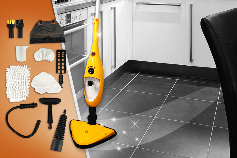£29.99 instead of £149.99 (from Groundlevel) for a 9-in-1 steam mop - save 80%