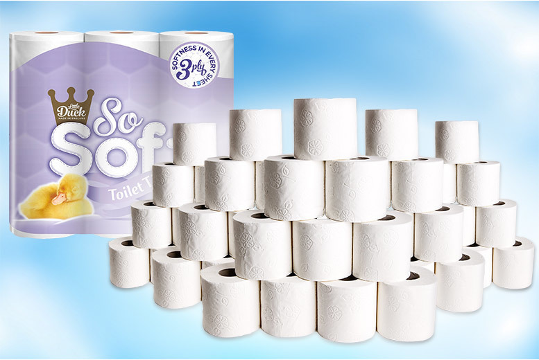 45 or 90 Little Duck So Soft Toilet Rolls from £9.99
