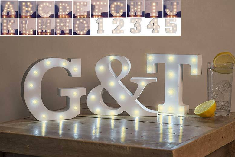 LED Alphabet Letters – Get 1, 2 or 4! from £6.99