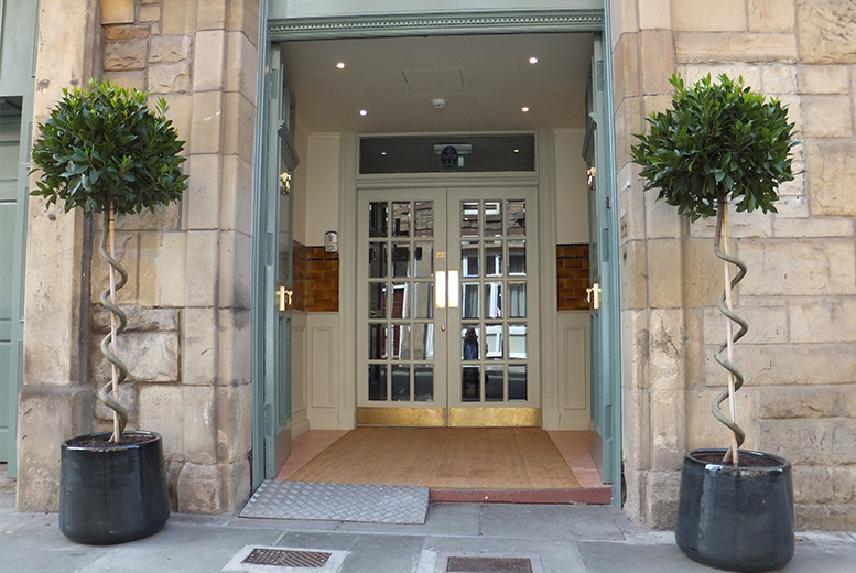 £69 for a stay for two people including breakfast, late check-out, afternoon tea and Prossecco or £109 for a two-night stay at Brooks Hotel, Edinburgh - save up to 54%