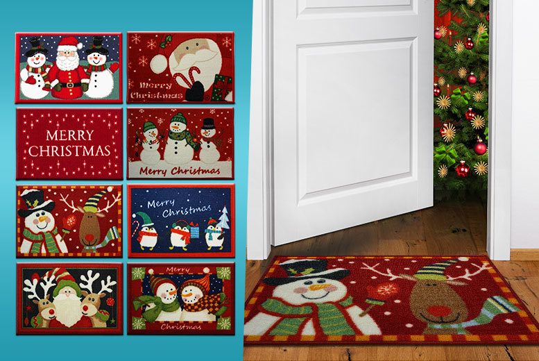 £4.99 instead of £29.99 (from The Rug Shop) for a Christmas themed doormat in a choice of eight designs, or £8.99 for two - save up to 83%