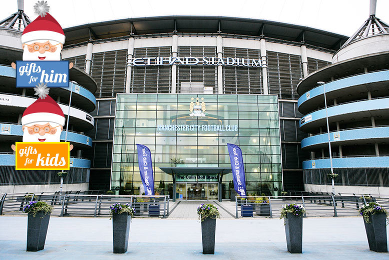 £15 for a child's 60-minute mascot Christmas tour at Manchester City's Etihad Stadium or £20 for an adult's tour