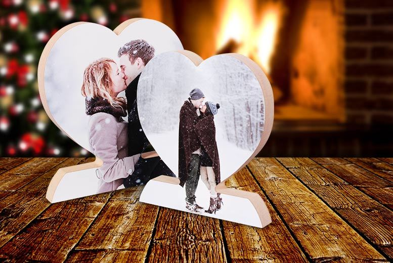 £6 instead of £39.99 (from Your Perfect Canvas) for a small personalised wooden photo heart, £9 for a large - save up to a picture perfect 85%