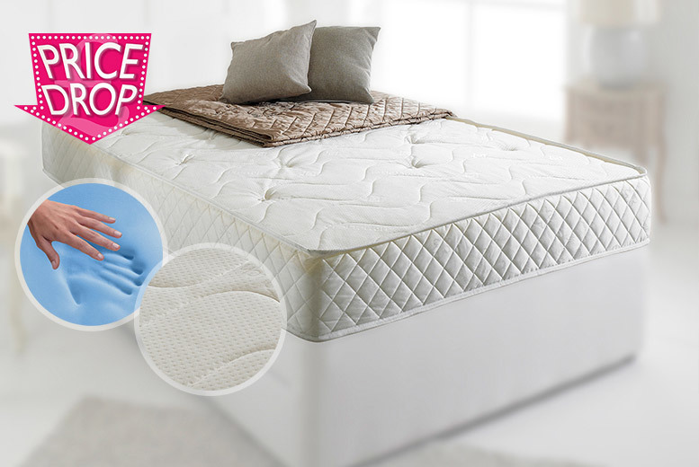 £74 instead of £379 (from Flamejar) for a single CoolBlue memory foam Bonnell-sprung mattress, £104 for a double or £129 for a king size - save up to 80%