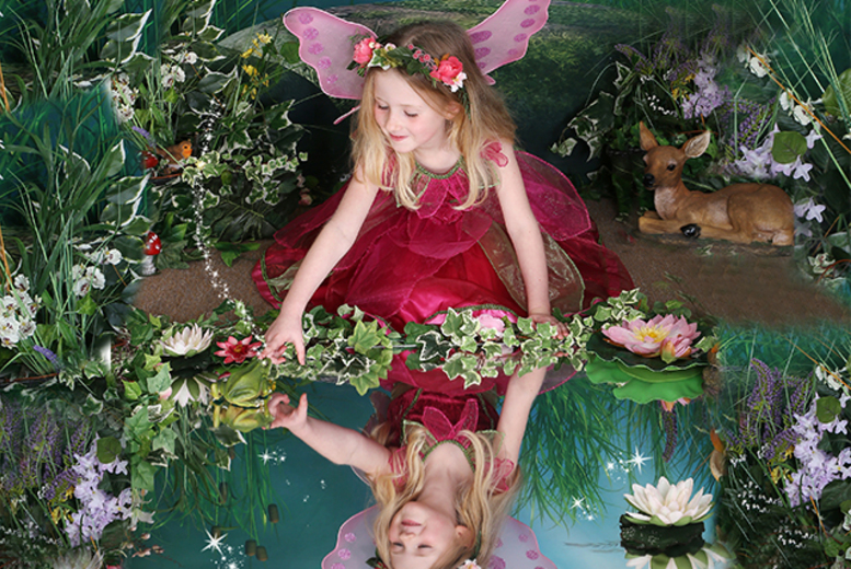 "£9 instead of up to £70 for a fairy or elf-themed children\'s photoshoot and two 7"" x 5"" prints from Picture Perfect by Mario, Kent - save up to 87%"