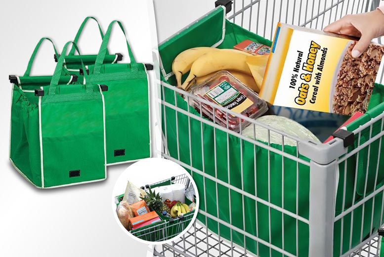 £5.99 instead of £18.99 (from Pretty Essential) for one reusable supermarket trolley \'Grabag\' bag, £10.99 for two bags - minimise hassle and save up to 68%