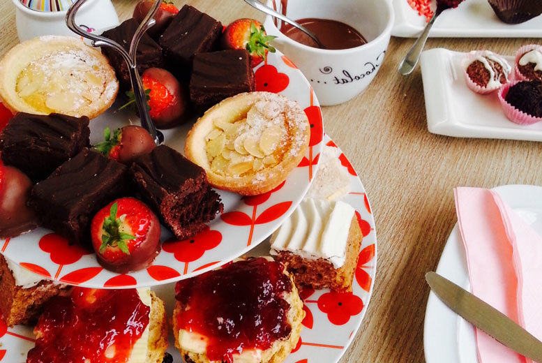 £12 for Christmas afternoon tea for two, £18 to include truffle making, or £22 for four, £34 to include truffle making at The Kandy Factory, Burton - save up to 50%