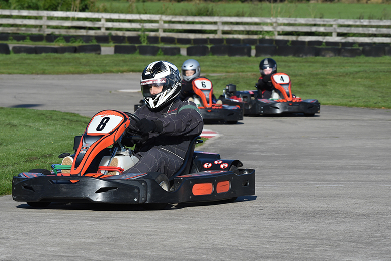 £20 for 30 laps of outdoor go karting for one person, £38 for two, £75 for four or £111 for six at Whilton Mill, near Daventry - save up to 38%