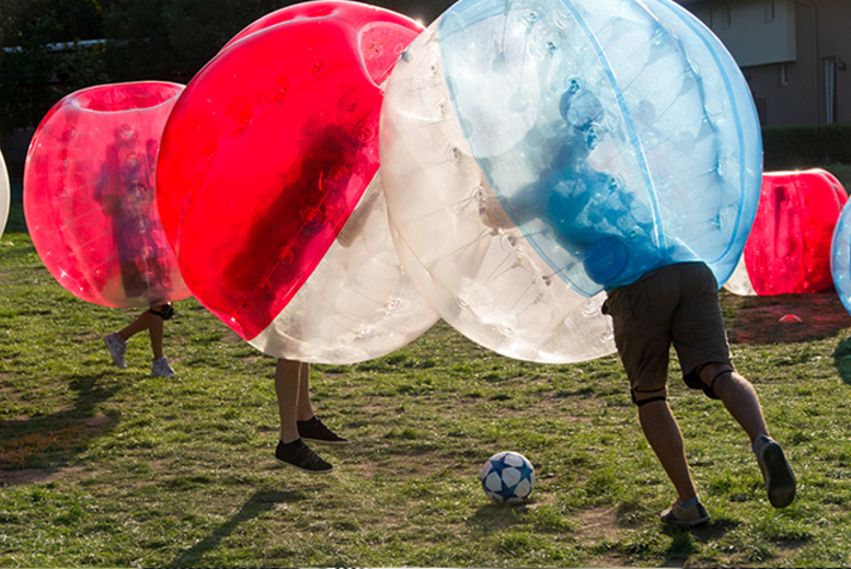 £99 instead of £250 for a one-hour bubble football experience for up to 10 players, £199 for a two-hour experience for up to 20 with Total Courses - save up to 60%