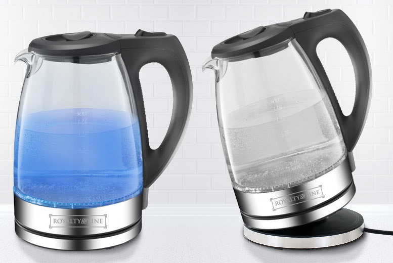 £19.99 instead of £54.04 for a clear glass LED kettle - save 63%
