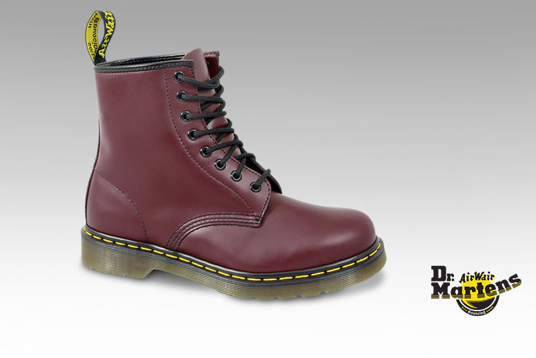 £69.99 instead of £101.01 for a pair of Dr Martens 1460 unisex boots in UK sizes 3-12 - choose black or cherry red and save 31%