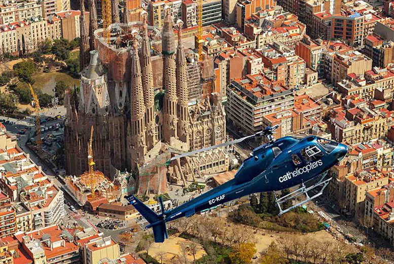 4 or 6nt Barcelona and Venice, Helicopter or Gondola Ride