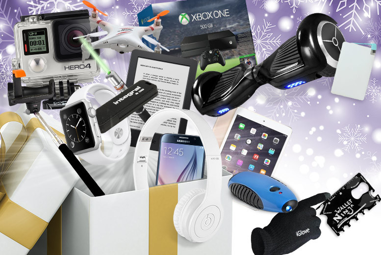 From £10 for a Mystery Electronics Deal - products include Beats Solo, hoverboard, HD Smart TV, Kindle, Bluetooth speakers, Fitbit, Apple Watch, Star Wars droid and more!