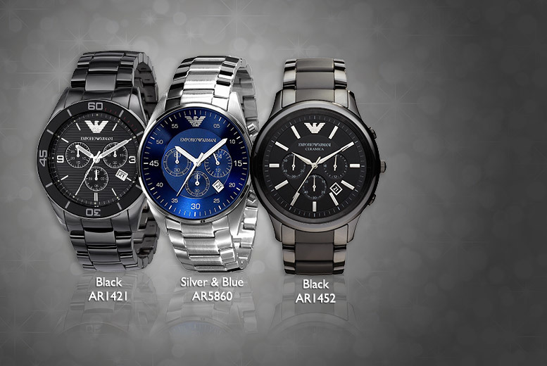 From £149 (from Gray Kingdom) for a men's Emporio Armani watch - choose from five designs and save up to 57%
