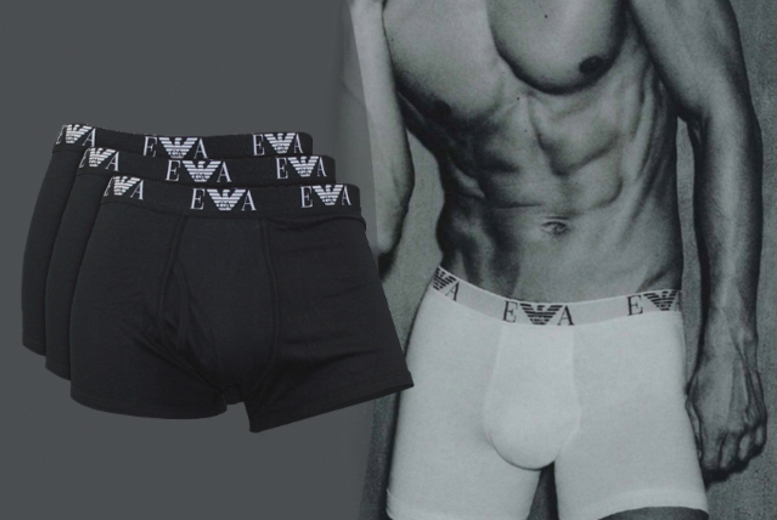 £22 instead of £44 for a pack of three Emporio Armani boxers - choose from black or white and save 50%