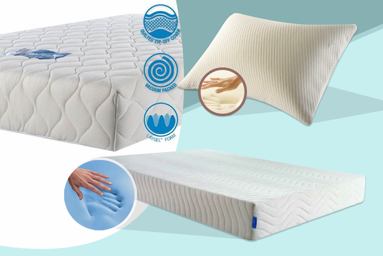 £149 for a single GelFlex mattress with a Memflake Plus pillow, £189 for a small double or double, £199 for a king or £209 for a superking - save up to 70%