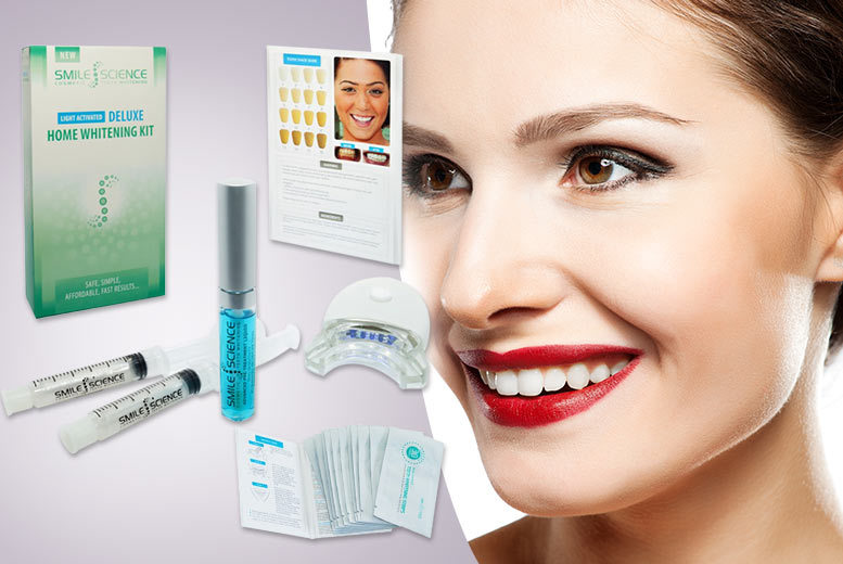 £21 instead of £103 (from Smile Science) for a seven-piece home teeth whitening combo kit including 14 strips - smile wide and save 80%