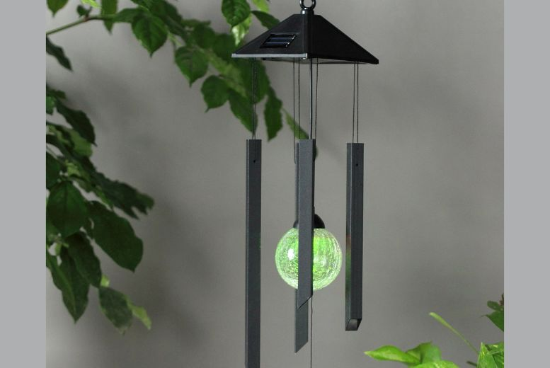 £7 instead of £29.99 for a Solar-Powered Colour Changing Wind Chime from Gift Mountain - save up to 77%