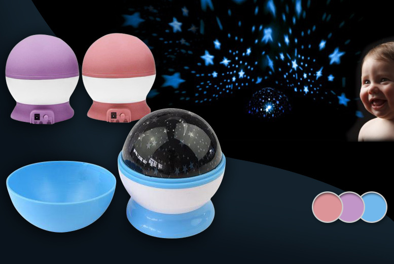 £4.99 instead of £22.99 (from Snap One Up) for a rotating galaxy night light projector - save 78%