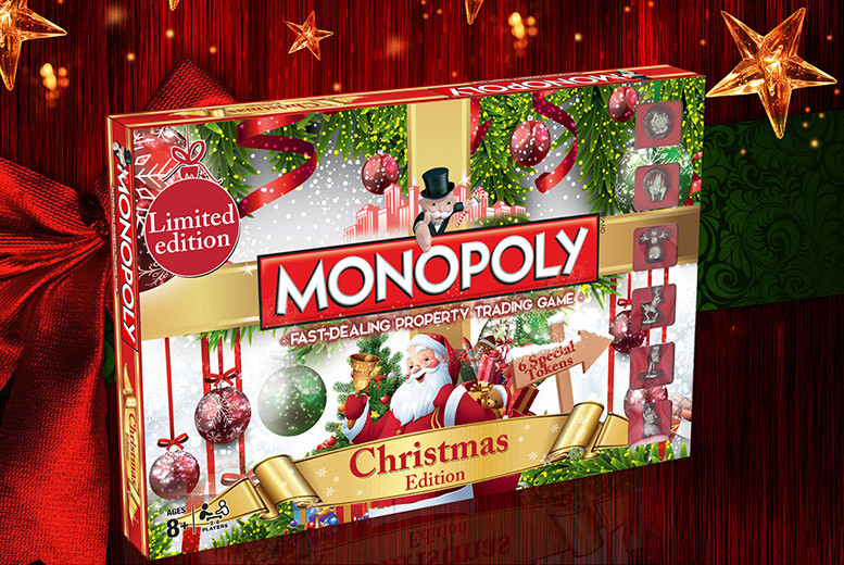 £24.99 for a Horrible Histories, Doctor Who or Christmas Monopoly board game - save up to 17%