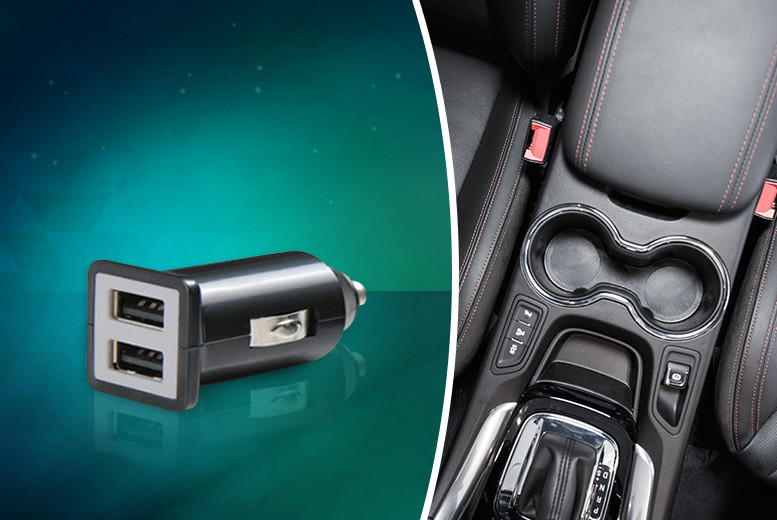 £2.99 instead of £14.95 (from Hedoo) for a dual port USB car charger - save 80%