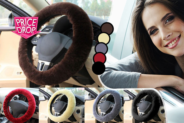 £6 instead of £40 for a sheepskin steering wheel cover - choose from five fabulous colours and save an un-bah-lievable 85%