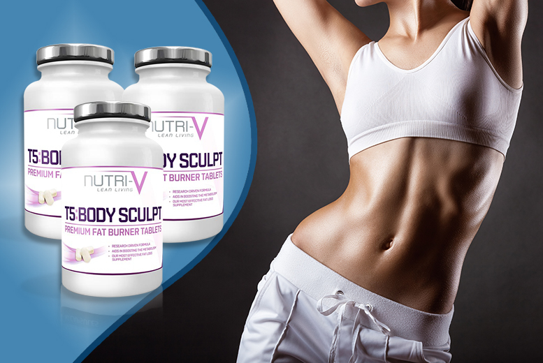 £15 for a three-month* supply of T5 'Fat Burner' tablets - save 80%