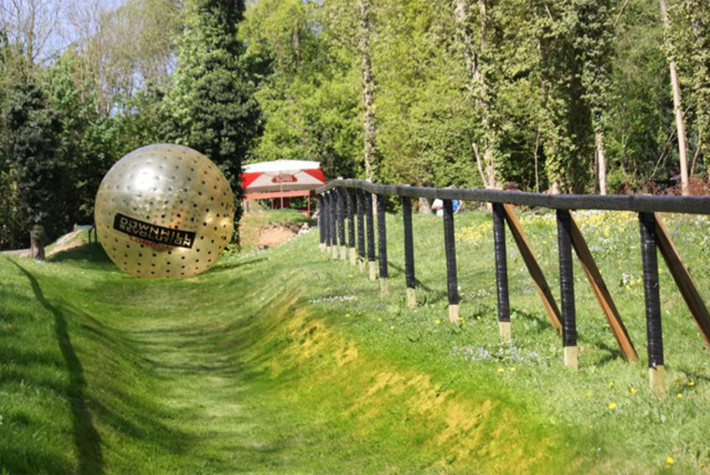£39 instead of £89.99 for a zorbing experience in Surrey for two or £69 for double down zorbing for two - save up to 57%