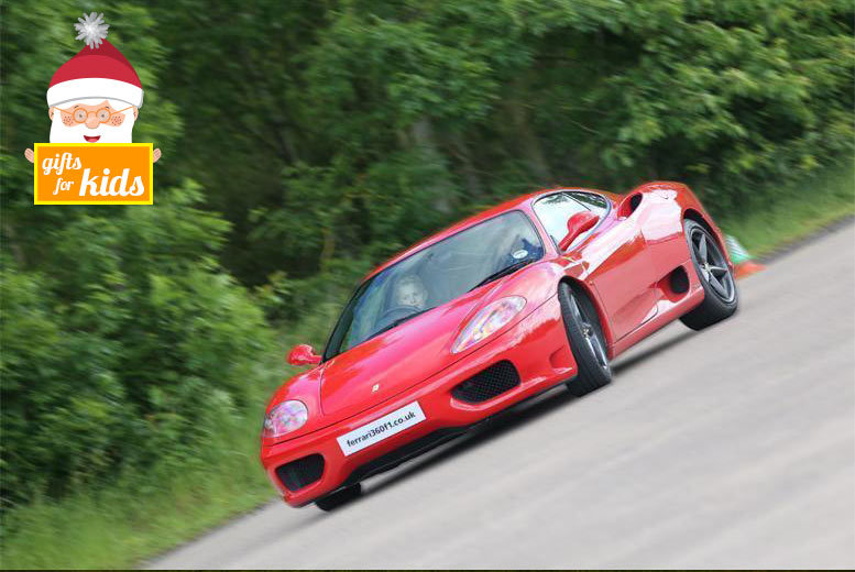£49 instead of £129 for a junior supercar experience with Ferrari 360 F1, Throckmorton Airfield - get your kid behind the wheel and save 62%