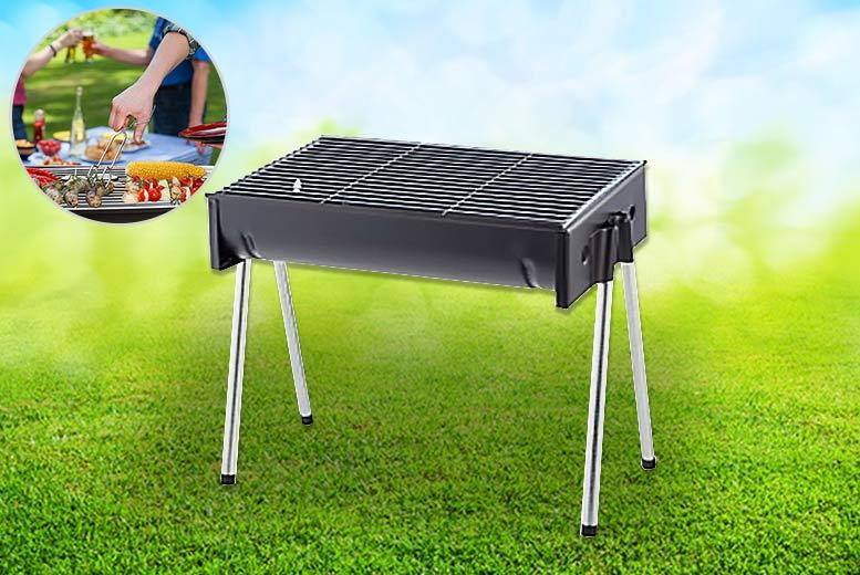 Half Drum Folding Portable BBQ from £17.99