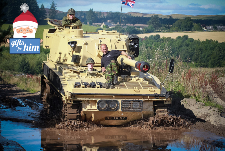 £29 instead of £45 for a one-hour tank riding experience for one, £55 for two or £99 for four at Tank Driving Scotland, Dundee - save up to 36%