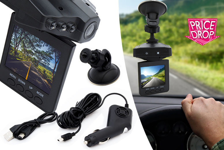 HD Car Dashcam with 2.5″ LCD Screen from £12