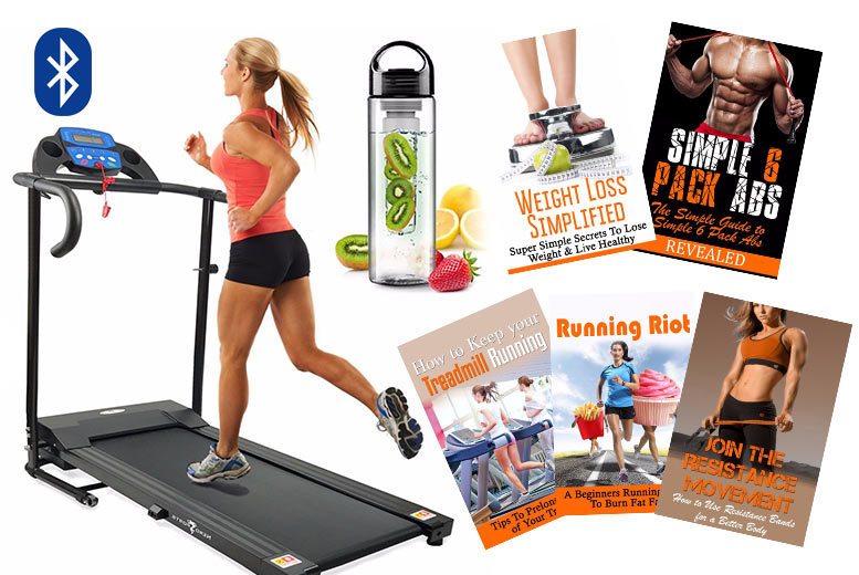 600W Electric Treadmill – Bluetooth Option! from £139