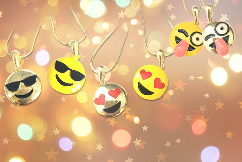 £4.99 (from Gray Kingdom) for a gold plated or yellow enamel emoji necklace in a choice of seven designs - smile and save up to 82%