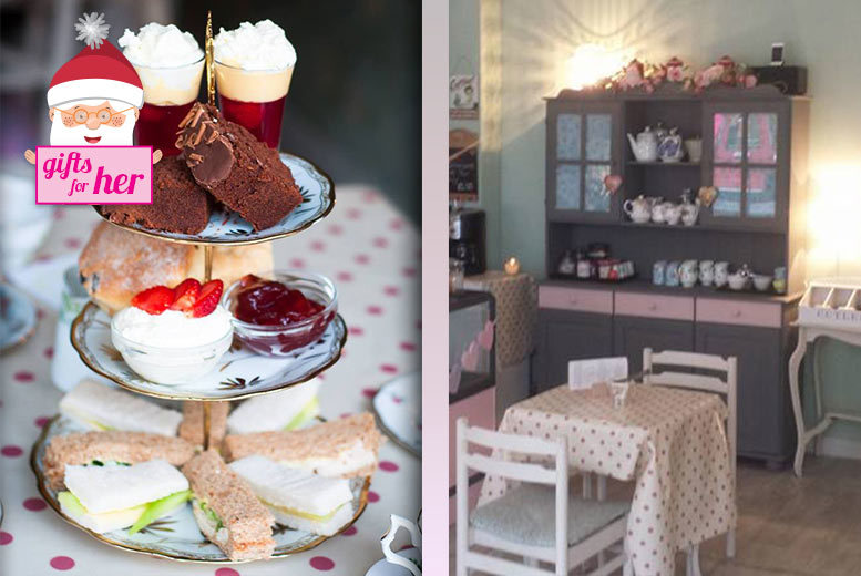 £10 instead of £17.90 for a vintage afternoon tea for two people at The Vintage Powder Rooms, Whitley Bay - save 44%