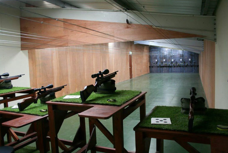 £12 instead of £24 for a shooting range experience for one, or £22 for two people at Ronnie Sunshines, Newton Abbot - save up to 50%