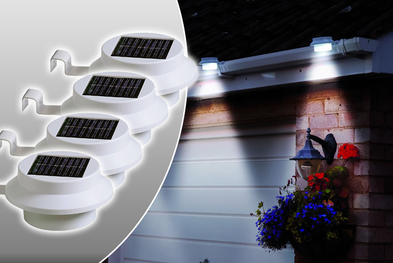 2 or 4 Solar-Powered Fence Lights from £7