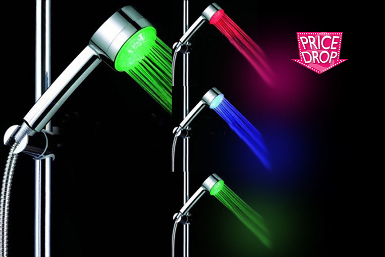7 LED Colour Changing Shower Head from £6