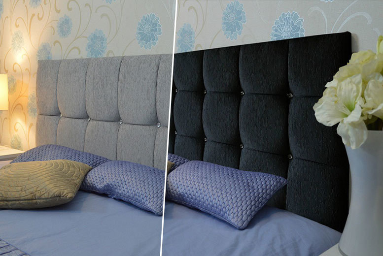 Chenille Diamanté Headboard