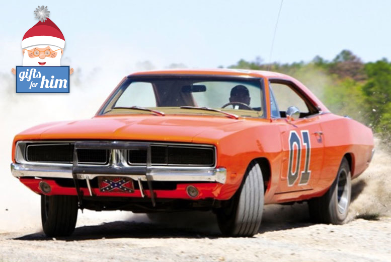 £39 instead of £99 to drive three laps in the famous 'The Dukes of Hazard' General Lee Dodger Charger with Car Chase Heroes - save 61%