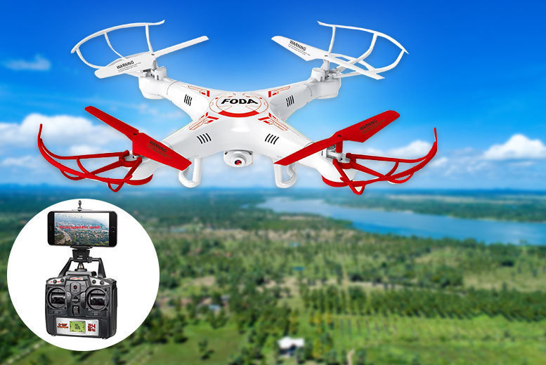 D15F Quadcopter Stunt Drone with Live Camera Feed from £49