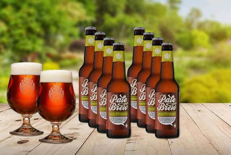 London: Set of 8 Craft IPA Beers & Crystal Beer Glass from £8