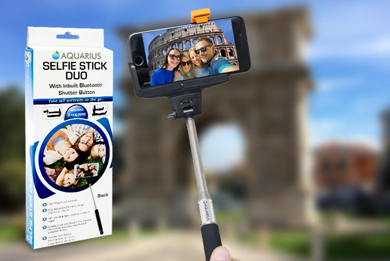 Bluetooth Selfie Stick & Dual Adaptor from £6.99