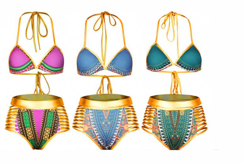 High Waisted Push Up Bikini Set – 3 Colours! from £11