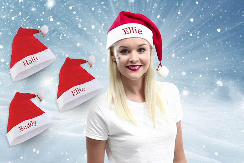 £3.99 instead of £14.99 (from Treats on Trend) for a personalised Santa hat - get festive and save 73%