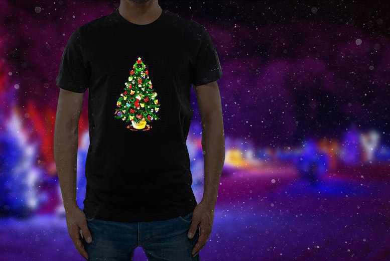 £12 instead of £18.13 (from Christmas T-Shirts) for a sound-activated LED light-up Christmas t-shirt in a choice of three designs - save 34%
