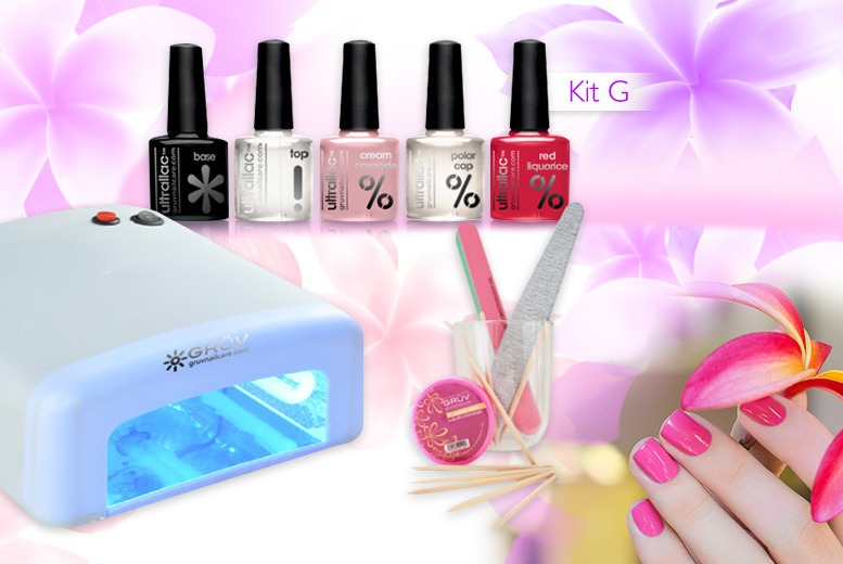 £39 instead of £231.14 (from Gruv) for a seven-piece UV nail kit including a UV lamp, three polishes and more, £45 including five polishes - save up to 83%