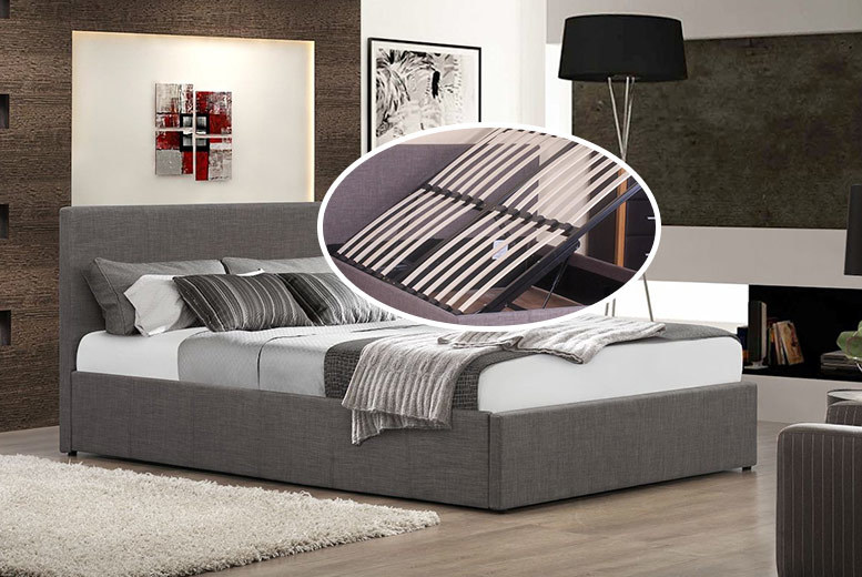Side-Lift Ottoman Bed Frame with Optional Mattress