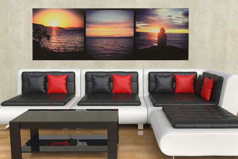 From £8 (from Your Perfect Canvas) for a personalised 3-in-1 or panoramic canvas  - save up to a picture-perfect 82%