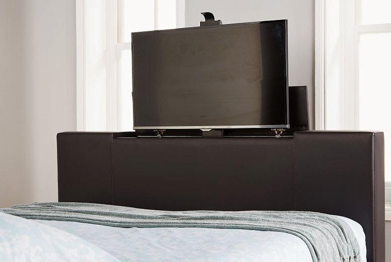 Las Vegas Faux Leather TV Bed